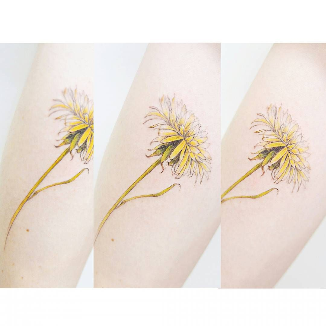 A Dandelion Flower Tattooistbanul Sister Tattoo Pinterest