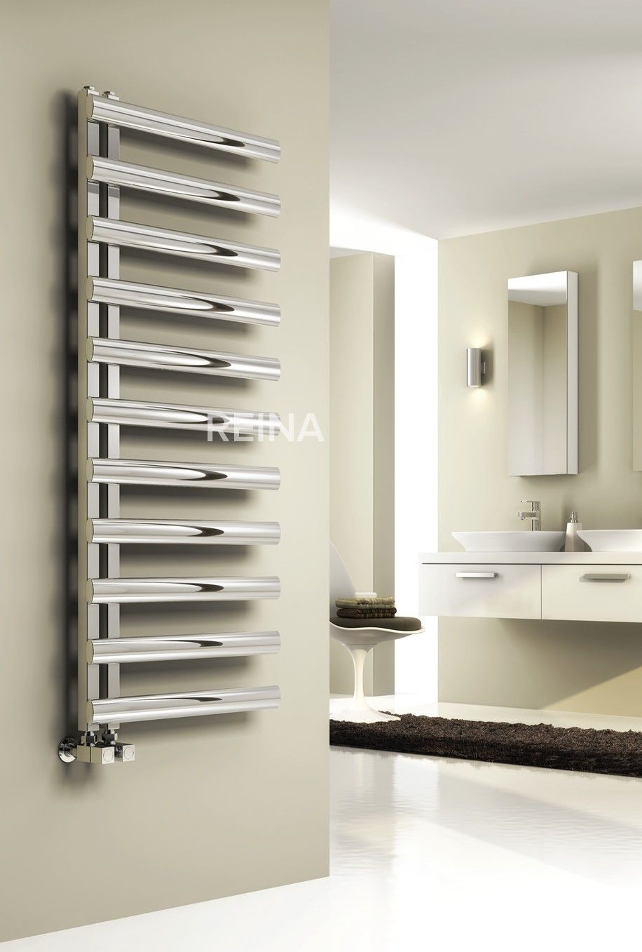 REINA CAVO STAINLESS STEEL HEATED TOWEL RAILS