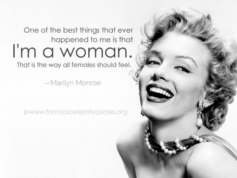 Best Women Quotes best quotes for women   Google Search | marys favourtits | Marilyn  Best Women Quotes