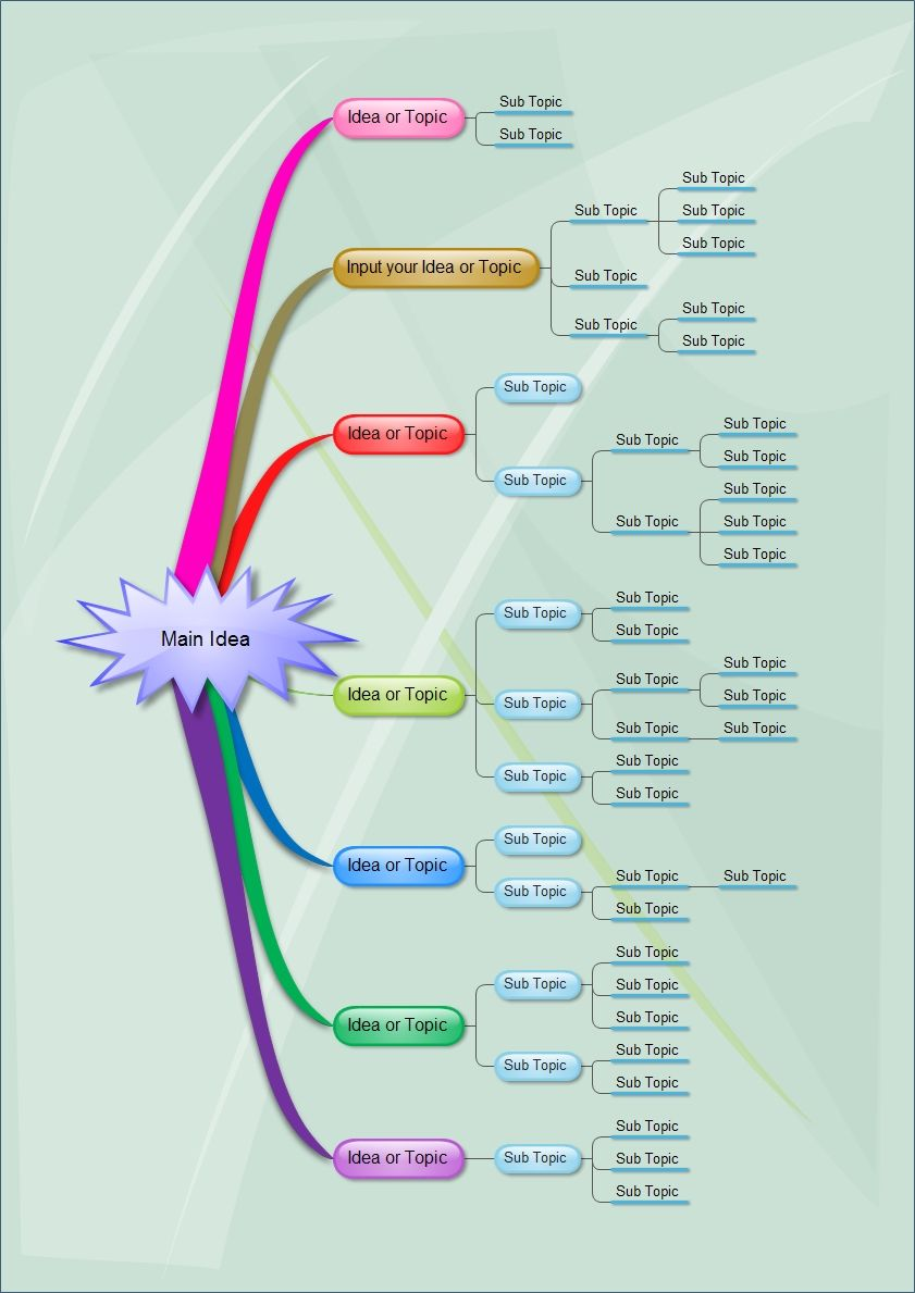 A mind mapping diagram is a graphical representation of ideas or ...