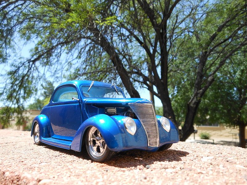 1937 Ford Coupe Street Rod Plastic Model Car Kit In 1 24 Scale