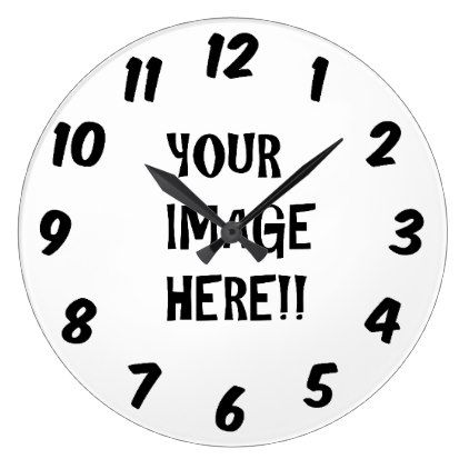Design your own Round (Large) Wall Clock - clock templates