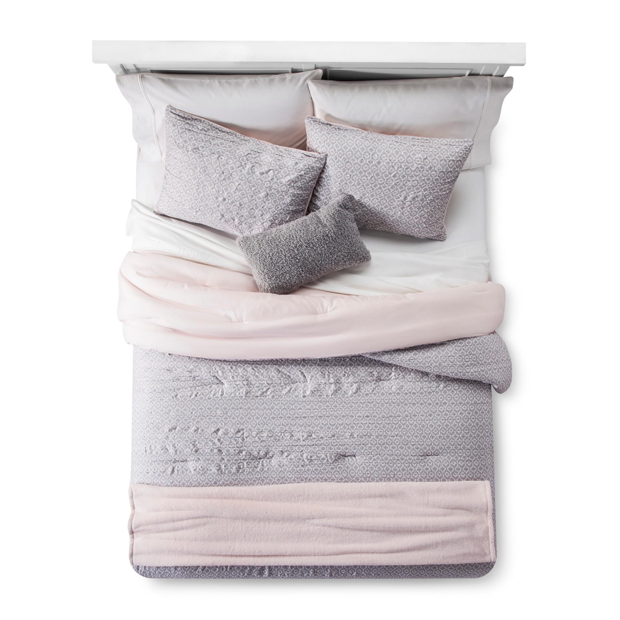 Blush Geo Lattice Comforter Set 5pc (King) Room
