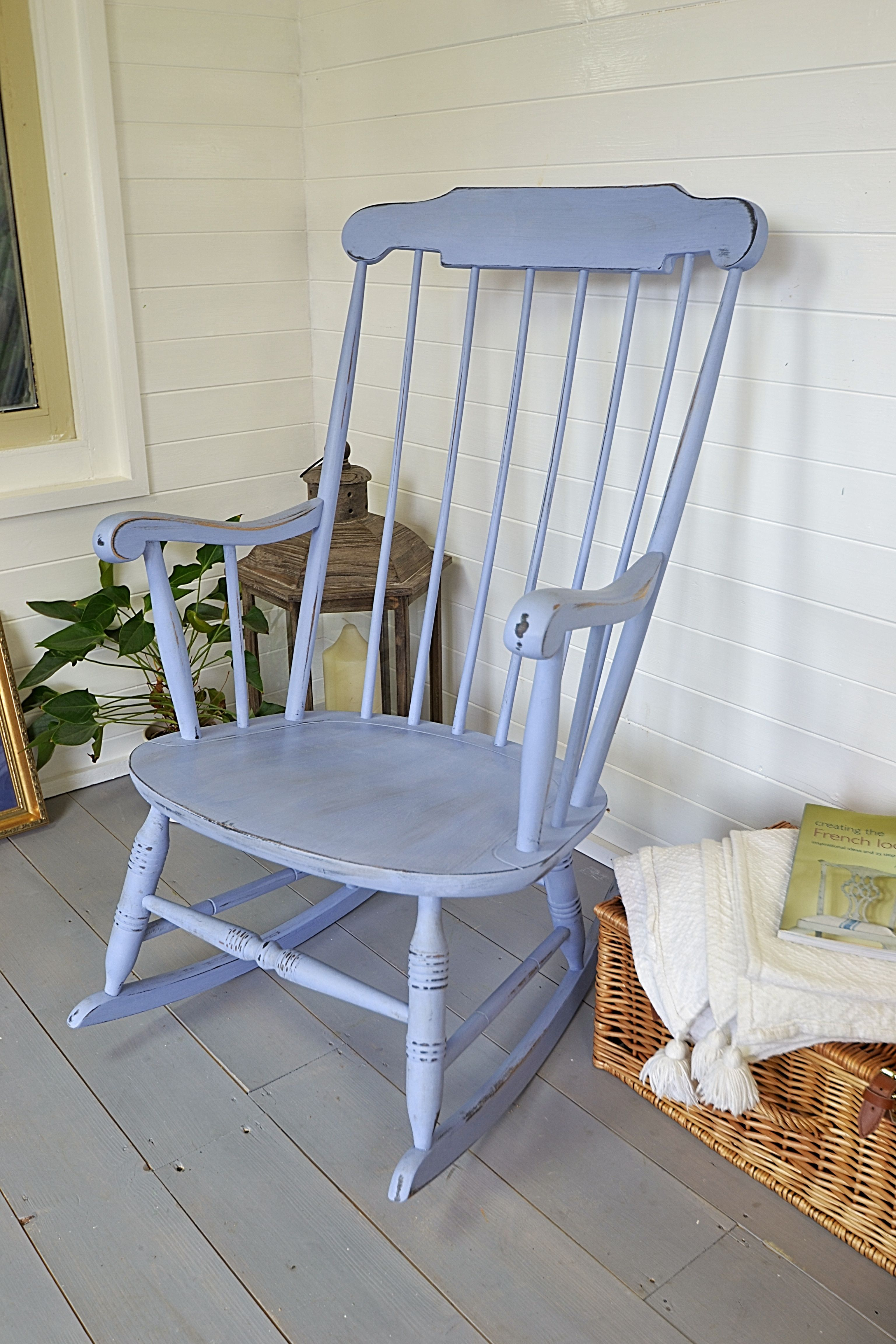 Shabby chic painted rocking chairs -