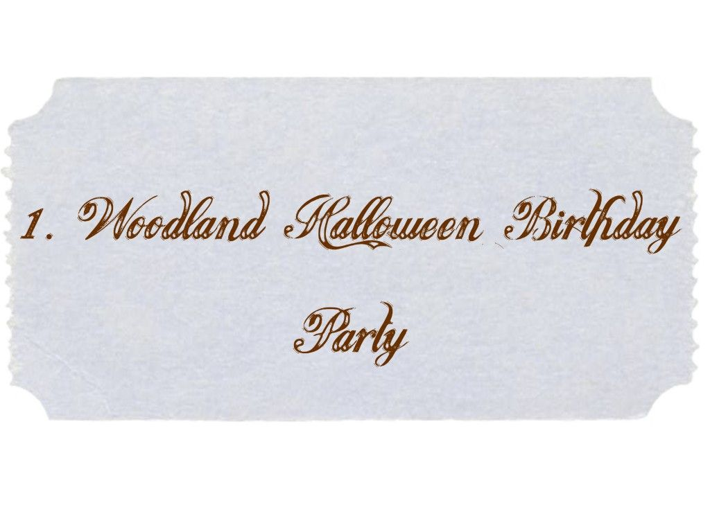 Party Idea Label - woodland