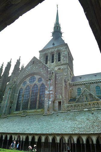 Abadía de Mont Saint Michel. Claustro