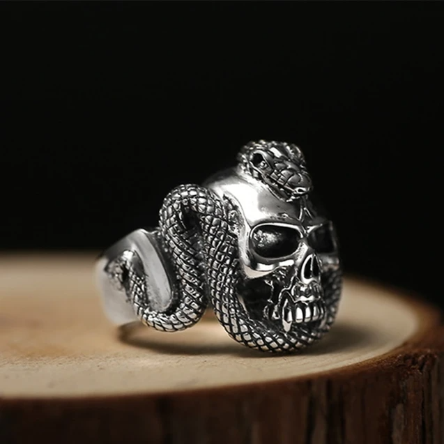 Solid Sterling Silver Skull Bracelet Handmade Solid Silver Lux Jewelry Punk Hearts