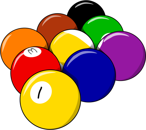 9 Balls Rack Free Clip Art Free Billiards Clip Art