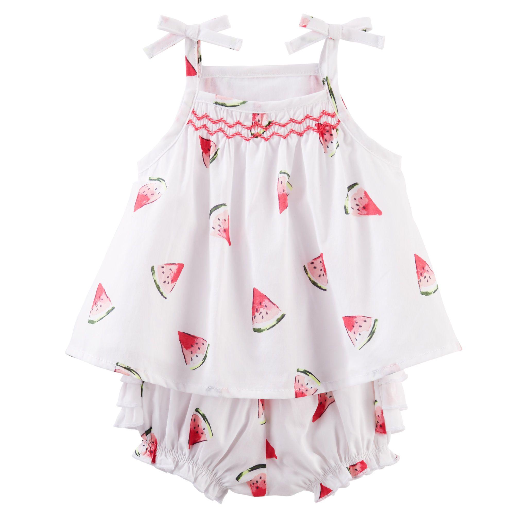 fbd8129e001a Baby Girl Watermelon Babydoll Set | OshKosh.com | Babies | Baby girl ...