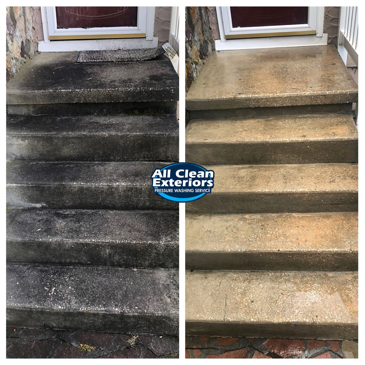 Concrete Steps Before And After In 2020 Cleaning Gutters Concrete Steps Pressure Washing Services