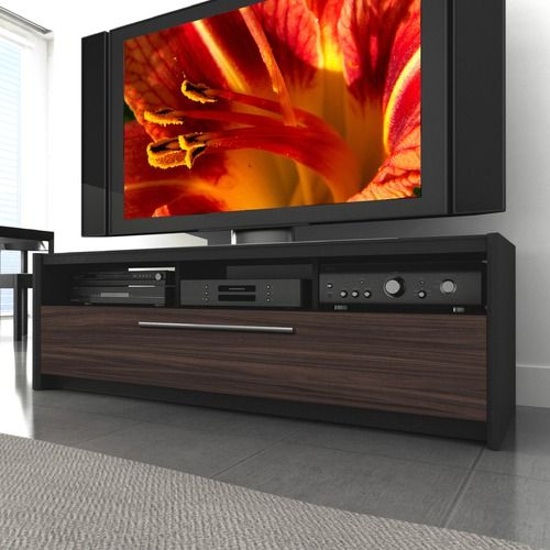 DCOR Design Naples   TV Stand In Black / Ebony Pecan. Just Found Our New Tv  Stand!
