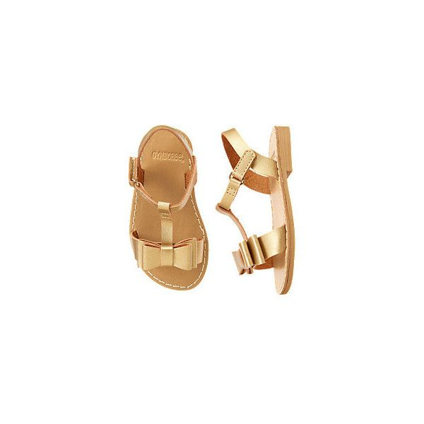 Metallic Bow Sandals (€29) ❤ liked on Polyvore featuring kids, baby, baby clothes, baby girl and girl shoes
