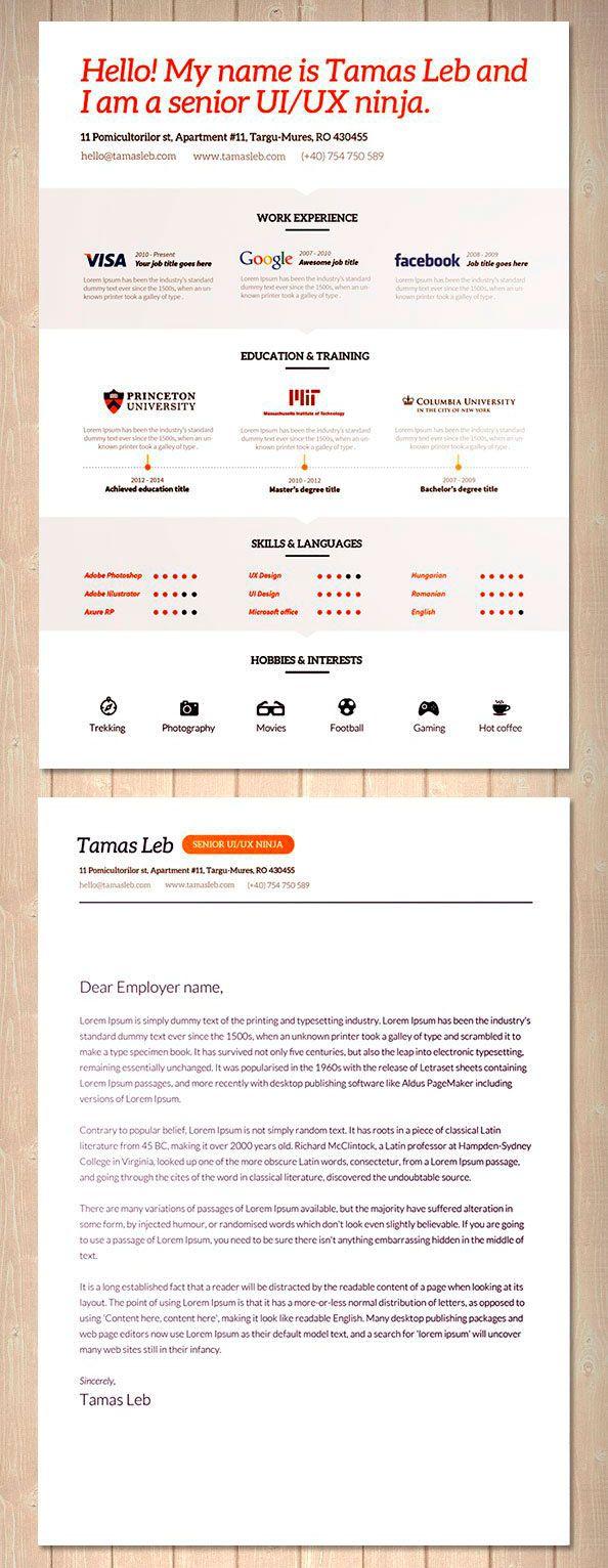 plantilla original para curriculum profesional | Resume | Pinterest ...
