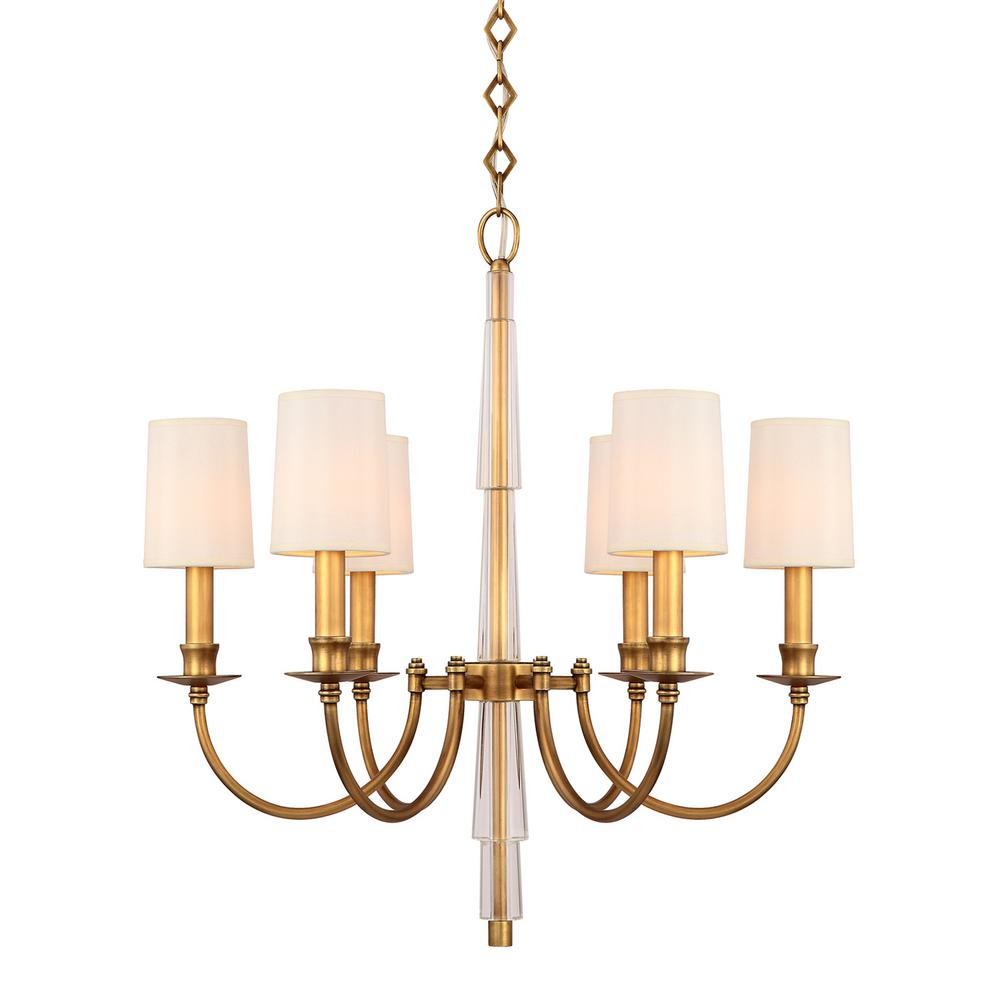 newest collection 6cb5f dca7f Crystorama Hdc 6-Light Aged Brass Chandelier Shade in 2019 ...