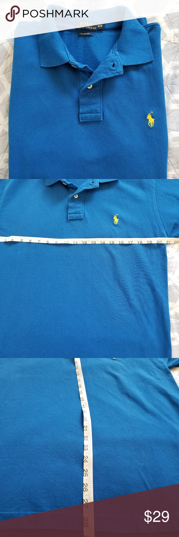 Mens Classic Lauren PoloMedium Ralph Blue Fit Polo Sleeve Short VqLSUMGzjp