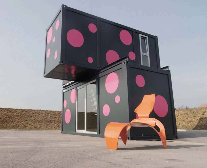 Container Architecture At Nrw Forum Dusseldorf Container House Shipping Container House Plans Container House Plans