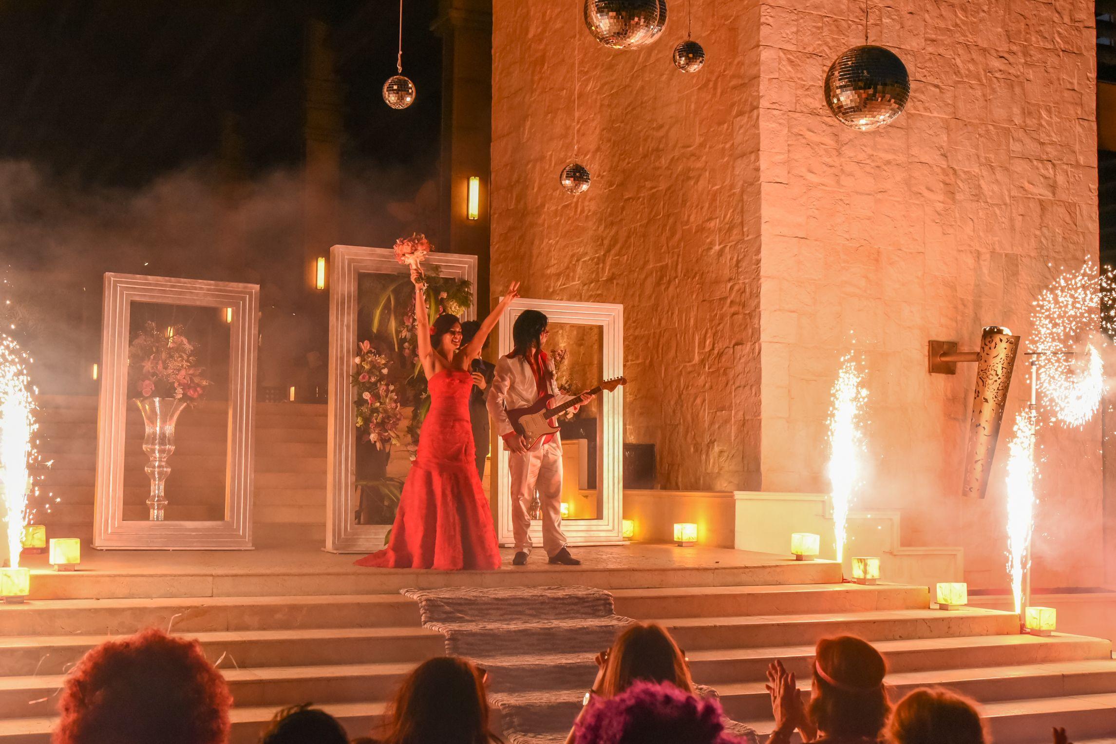 A Rock Star Wedding Ceremony