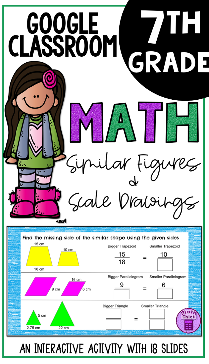 Similar Figures And Scale Drawings Google Ready Teks 7 5a And 7 5c Google Math Activities Problem Solving Activities Blended Classroom [ 1220 x 702 Pixel ]