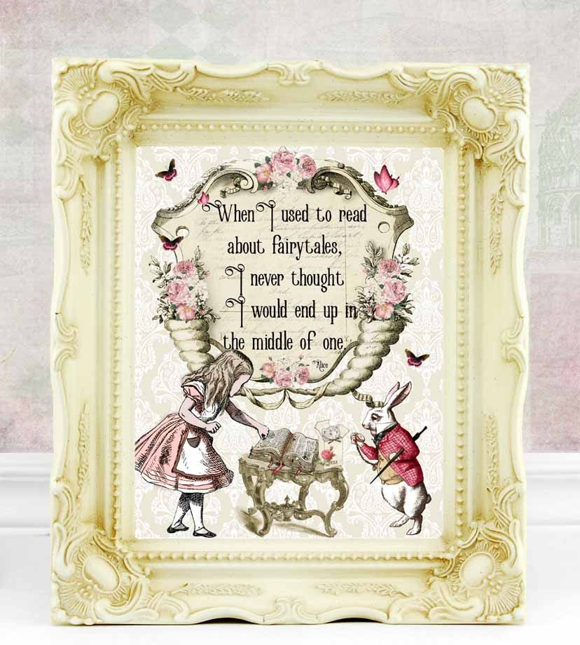Alice In Wonderland Print Alice In Wonderland Decor Alice In