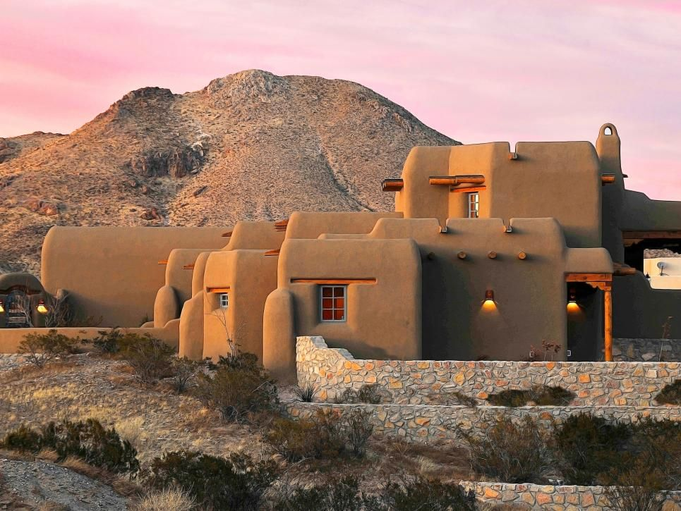 This Beautiful Adobe Home In New Mexico Meshes Seamlessly With Its Desert Setting Thanks To Its