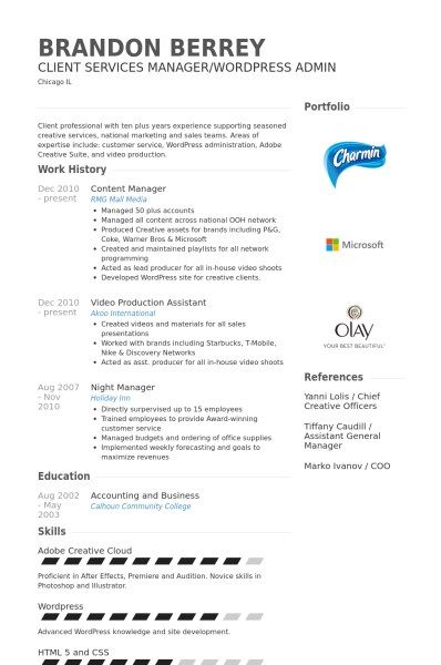 Content Manager Resume Sample - http\/\/topresumeinfo\/content - video production resume samples