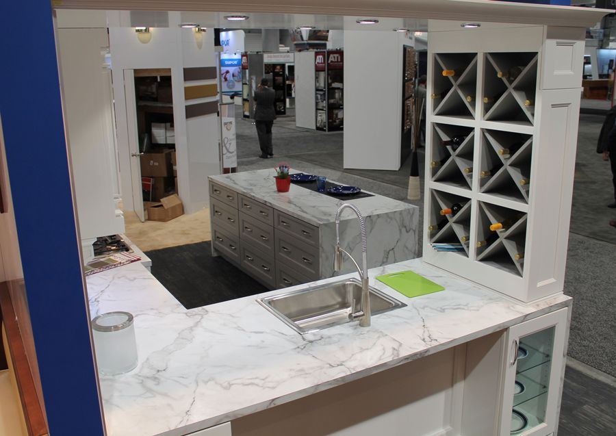 Granite Slabs For Photo Booth : Fabuwood cabinetry kbis booth featuring formica