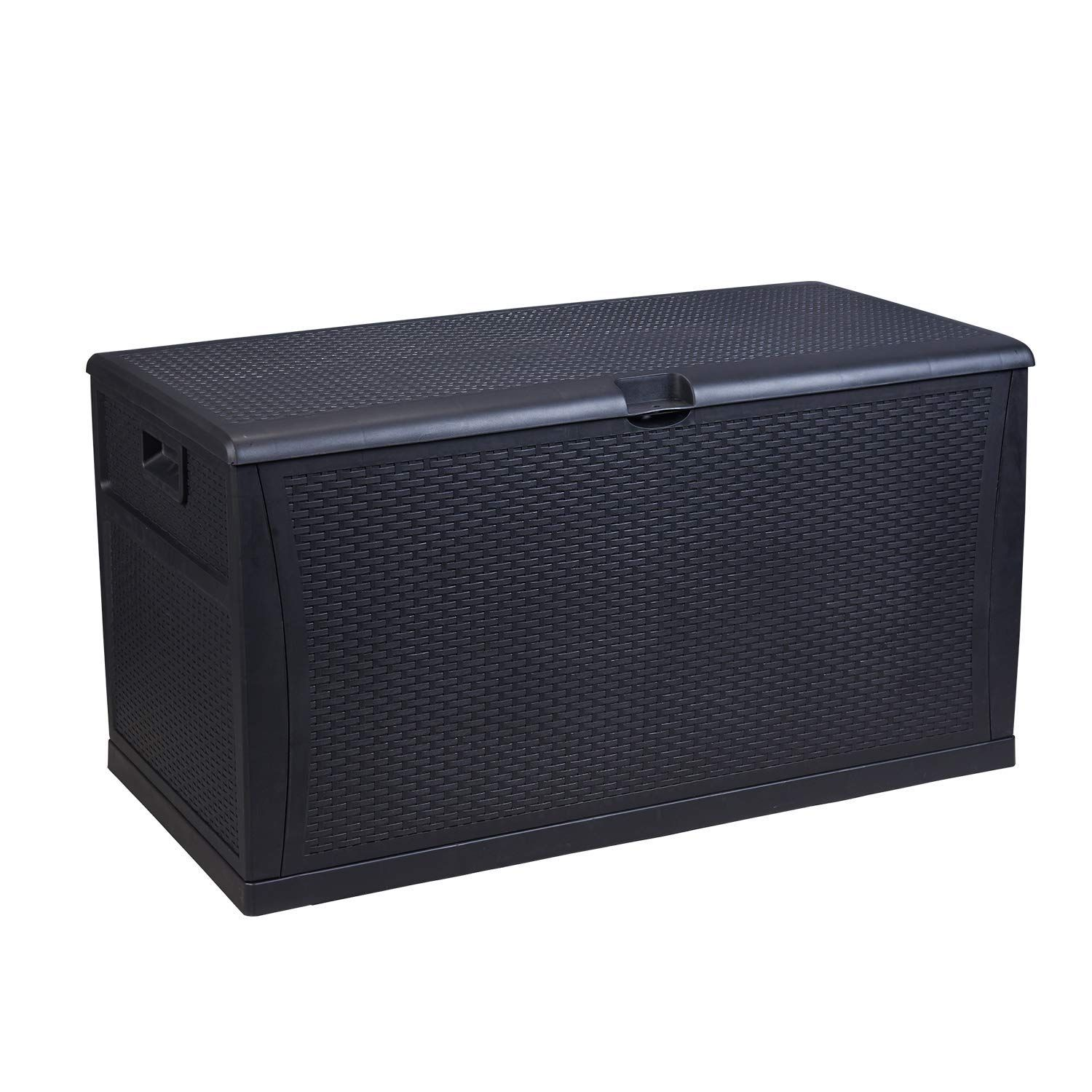Gdy 120 Gallon Patio Storage Deck Box Outdoor Storage Plastic Bench Box Read More At The Image Link It In 2020 Patio Storage Bench Patio Storage Deck Box Storage