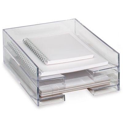 Palaset Clear Stackable Letter Tray in 2019  Office