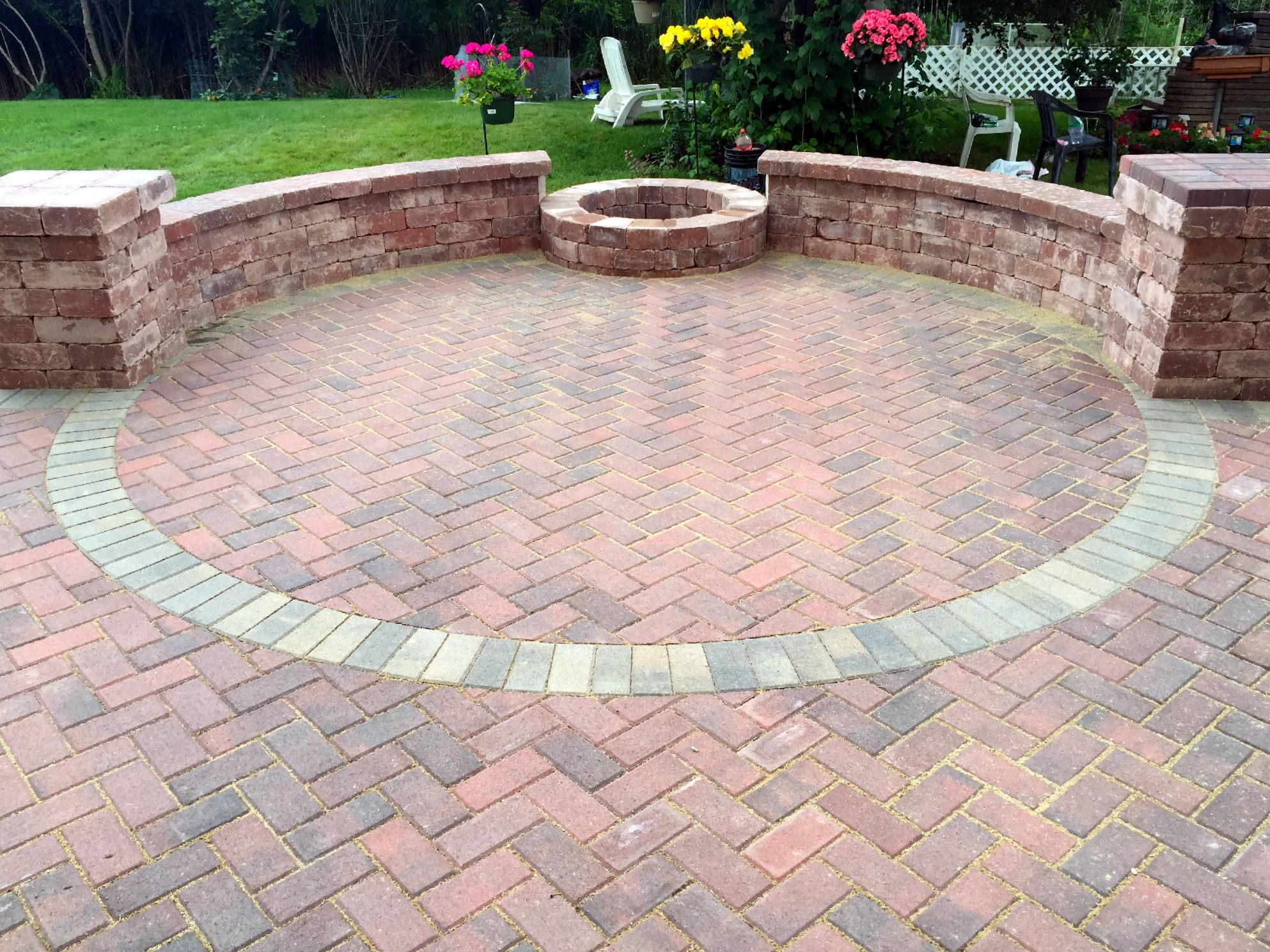 Belgard Holland Stone Patio With Fire Pit By Mundelein Il