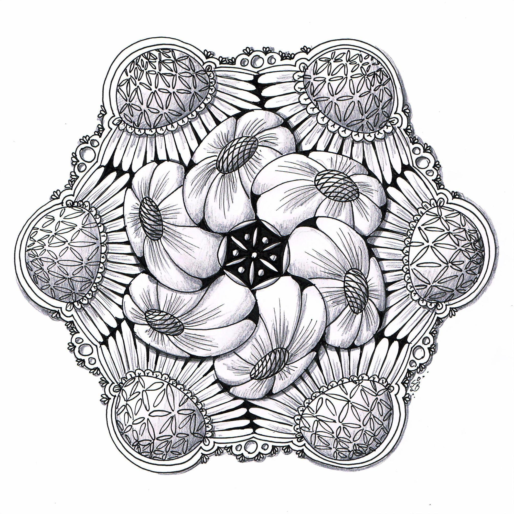 Erins Neues Zendala Template Und Das Neue Muster Quandry Zentangle Zeichnungen Zentangle Kunst Zentangle Muster