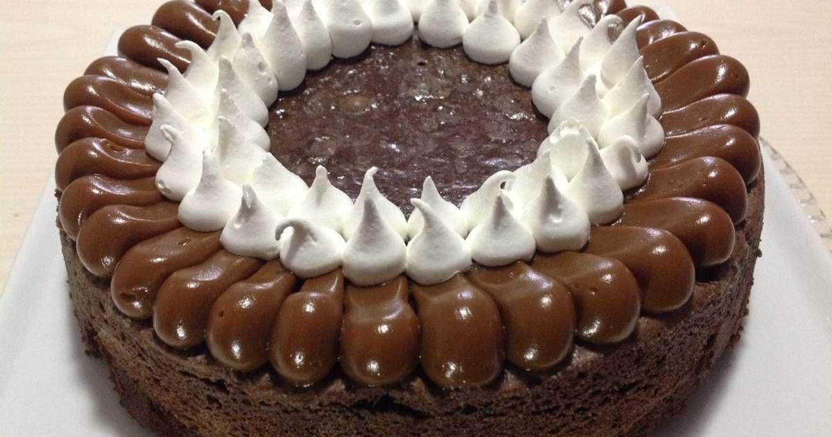 Torta Brownie Con Dulce De Leche Y Merengue Italiano Receta