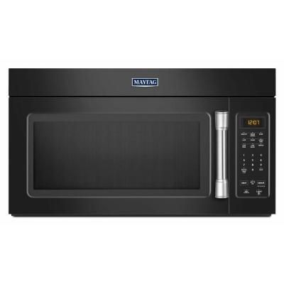 Over The Range Microwave In Black With Stainless Steel Handle Mmv1174de At Home Depot
