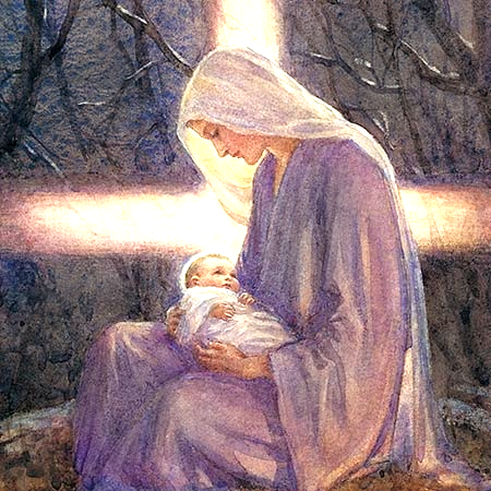"""She ponders a love so true, a grace so great, that it cannot be compromised by the ugliness of circumstances. """"The shepherds come and tell what the angels have announced to them: that in the city of David a Savior is born and that they are invited to seek him, and to find him, and to see him, wrapped in swaddling clothes. Mary ponders these things in her heart. She ponders a love so true, a grace so great, that it cannot be compromised by the ugliness of circumstances. This child is a King…"""
