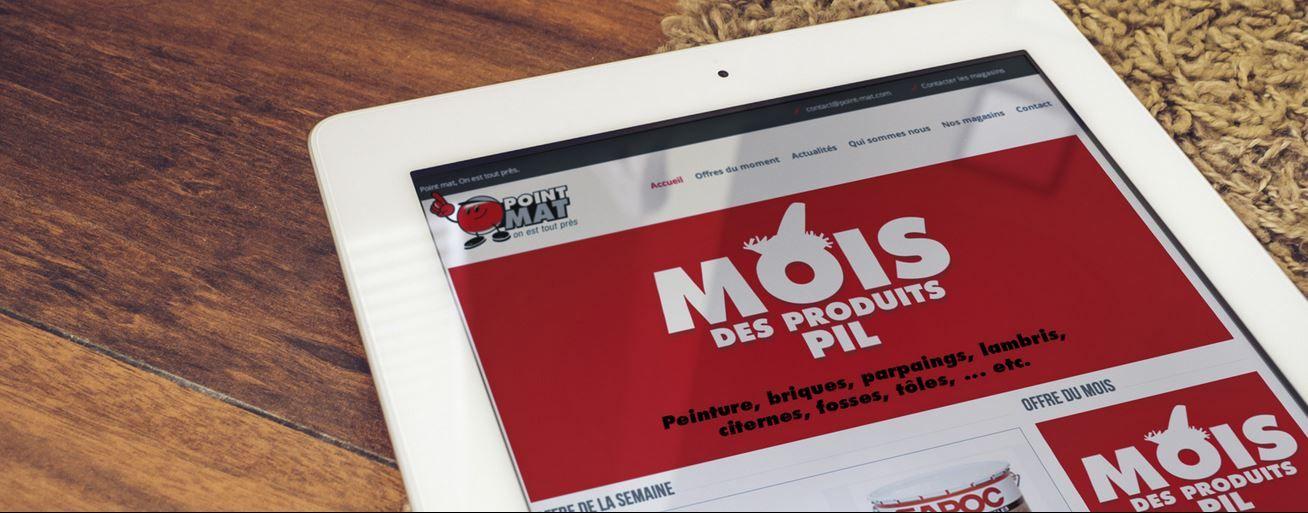 Refonte du site Poit Mat en responsive design, clair et épuré #Graphidom http://vitrine.graphidom.fr/portfolio.php