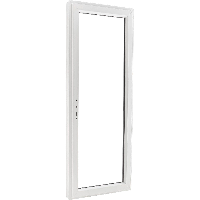 Porte Fenetre Pvc H 215 X L 80 Cm Blanc 1 Vantail Tirant Droit Fenetre Pvc Poignee Placard Et Porte Fenetre