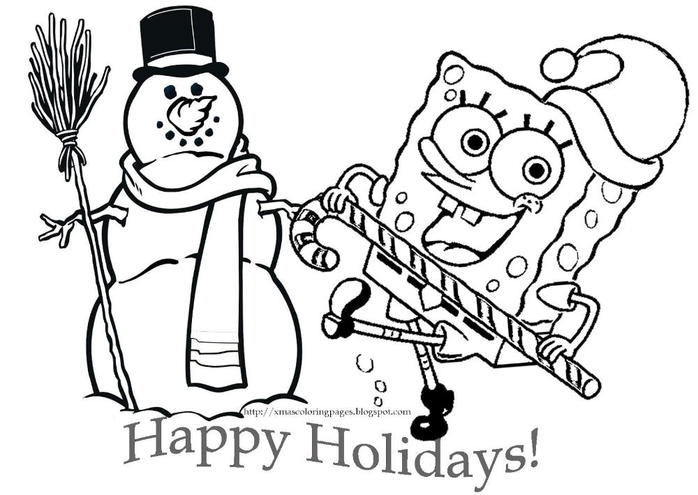 Spongebob Christmas Coloring Pages Snowman Spongebob Coloring Spongebob Christmas Printable Christmas Coloring Pages