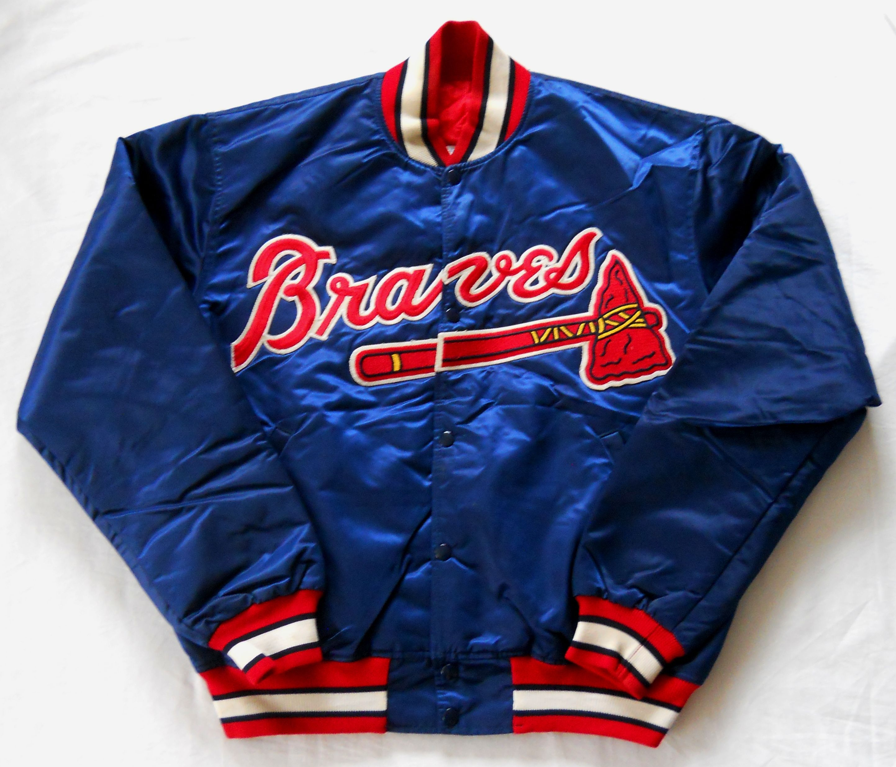 Vintage Early 90s Atlanta Braves Diamnond Collection Satin Jacket By Starter Men S Xl Pre Owned Jackets Cool Jackets Satin Jackets