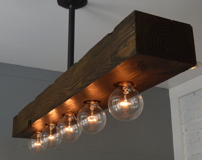 Reclaimed Wood - Chandelier - Light Fixture - Farm Light - Country Lighting - Ceiling Light & Reclaimed Wood - Chandelier - Light Fixture - Farm Light - Country ...