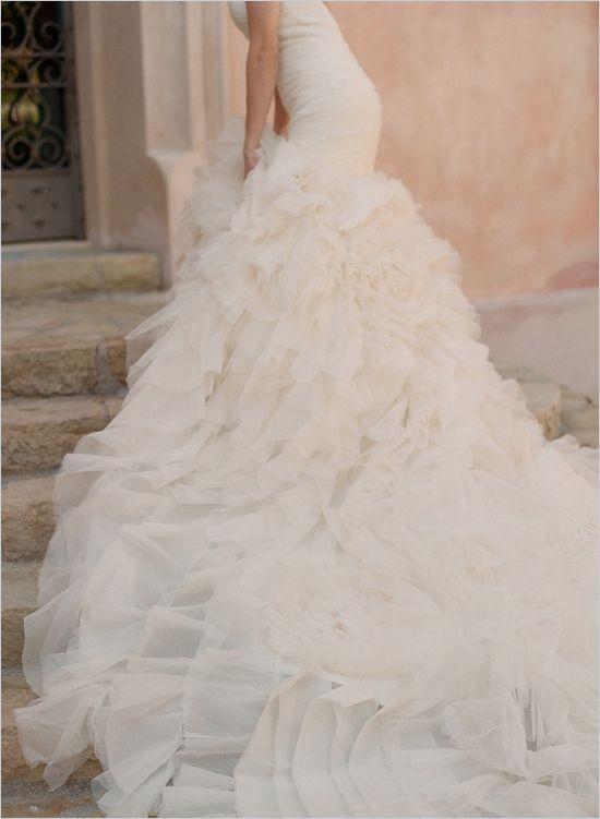 Popular Perfect Wedding Dresses wedding dresses wedding glamour featured fashion ruffled wedding gown by Kirstie Kelly Colin Cowie Weddings