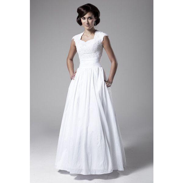 mormon wedding dresses | Lds Temple Ready Wedding Dress | Modest ...