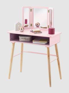 Coiffeuse fille 3 miroirs thème paradis fleuri - vertbaudet ...
