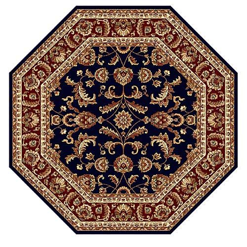 Tayse Sensation Sariya Octagon Area Rug Navy Octagon Area Rugs