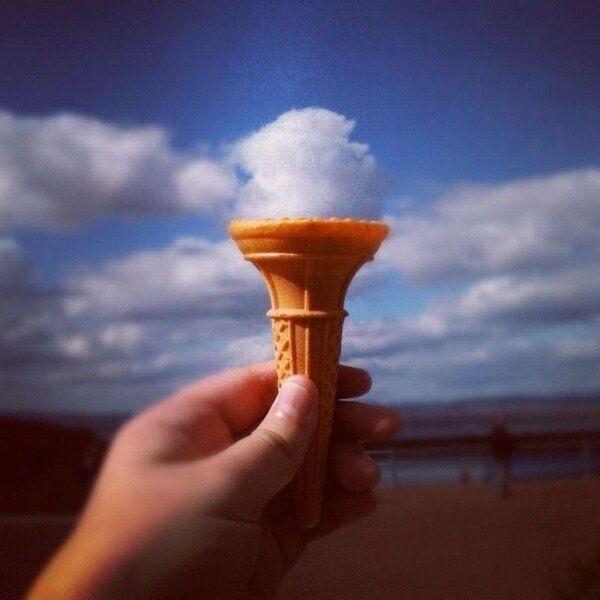 ice cream cloud illusion Ilusiones opticas, Nubes, Fotos