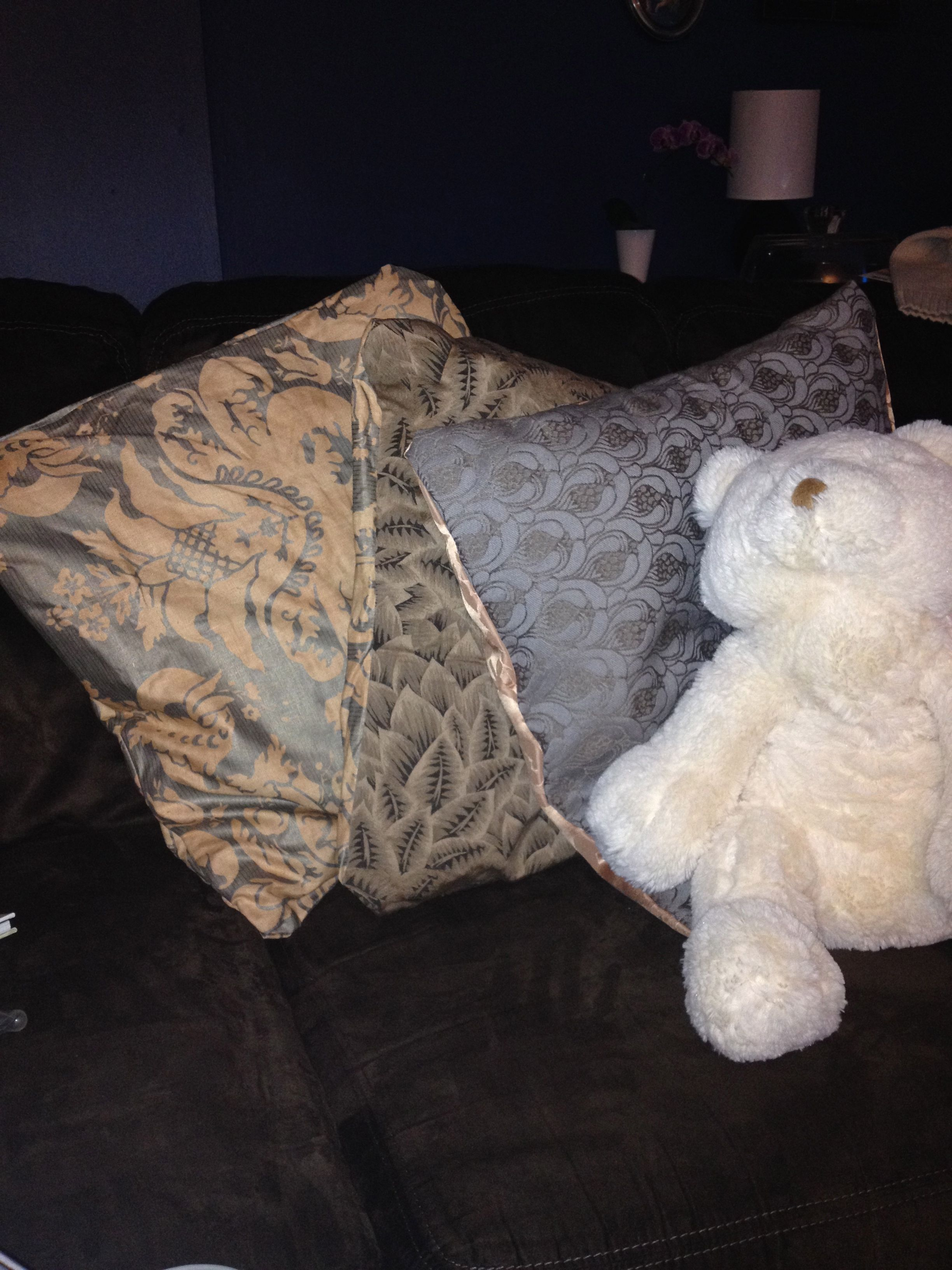 Diy no sew cushions using fabric glue sewing cushions