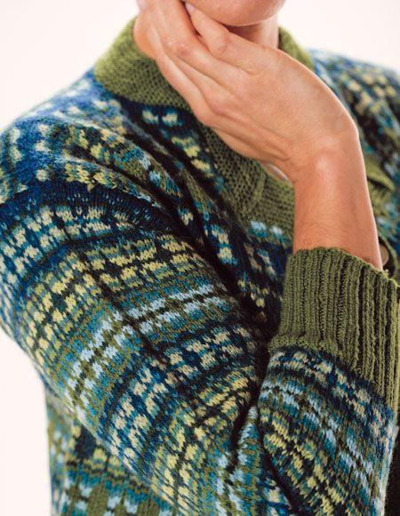 Astera Fair Isle Cardigan Pattern - Knitting Patterns and Crochet ...