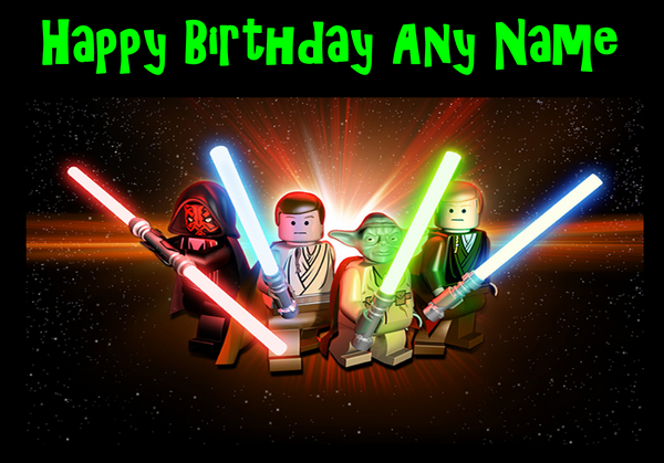 Star Wars Lego Birthday – Personalised Birthday Cards for Kids