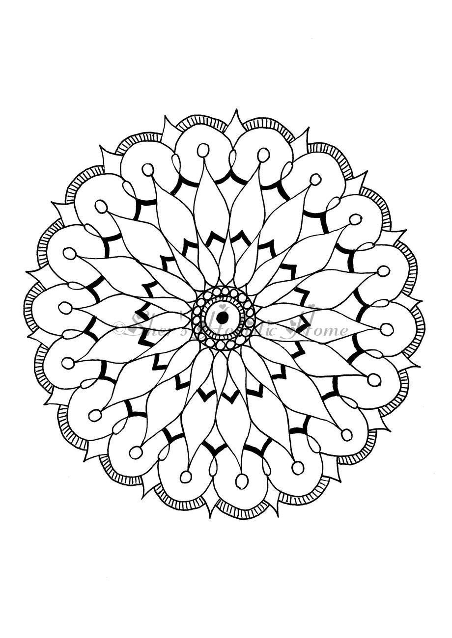 Simple Beginners Mandala For Colouring Many More Available In My