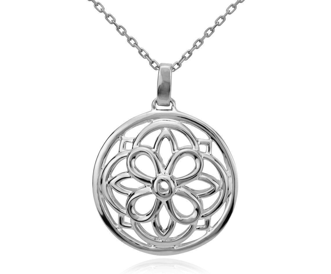 Round Medallion Pendant in Sterling Silver #BlueNile