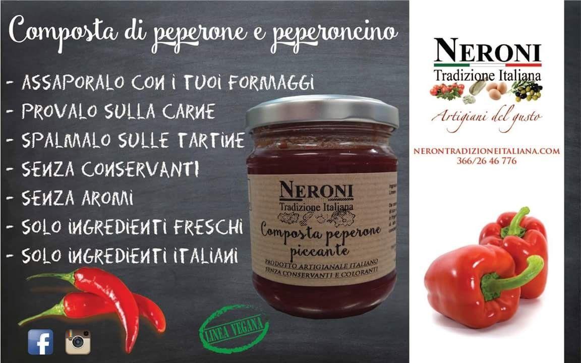 Composta di peperone rosso e peperoncino... #neronitradizioneitaliana #madeinitaly #ciboitaliano #italia #composte #creme #sughipronti #noconservanti #patè