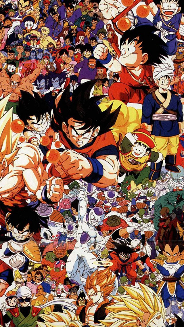 Dragonball Full Art Illust Game Anime Iphone 5s Wallpaper